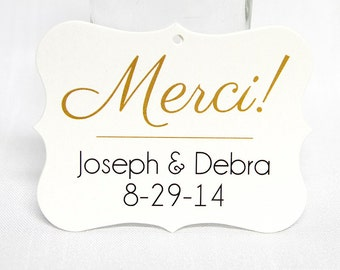 Thank You Tags, Wedding Thank You Tags, Wedding Favor Tags  (EC-040)