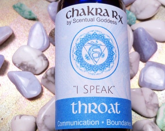 """Throat Chakra Spray """"I Speak"""" 5th Blue Chakras - Improve Communication, Speak Your Personal Truth, Stand Up For Yourself - Be Able to Say No"""