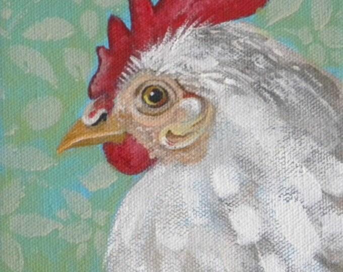 Henrietta chicken blank greeting card