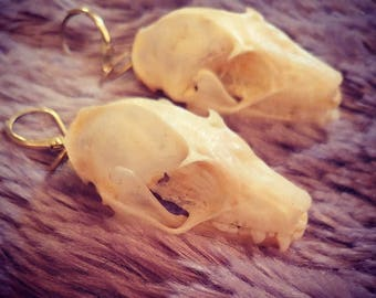Bat skull earrings