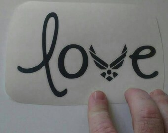 I love the Air Force military custom decal sticker in various colors and sizes