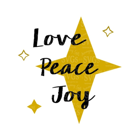 SVG   Love Peace Joy   Christmas Quote   Wordart   Holiday Sentiment    North Star   Pallet Sign Design   Christmas Card From AmaysingSVGs On Etsy  Studio