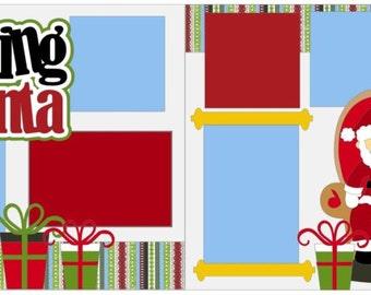 """Scrapbook 2 Page Layout """"Visiting Santa"""""""
