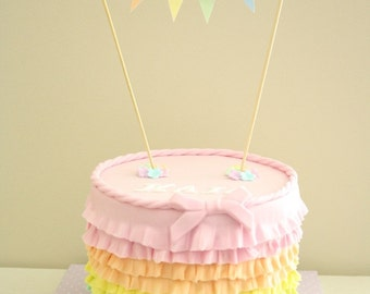 Mini Cake Bunting Banner Bright Colours Instant Download