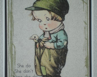 She Do She Don't - Dark Green Border