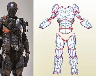 Eva foam templates etsy deathstroke full armor templates bonus helmet pack an weapons maxwellsz