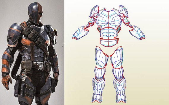 Deathstroke full armor templates bonus helmet pack an for Deathstroke armor template