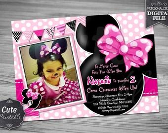 MINNIE MOUSE INVITATION, Minnie Invitation, Minnie Mouse Invitation, Minnie Mouse Invite