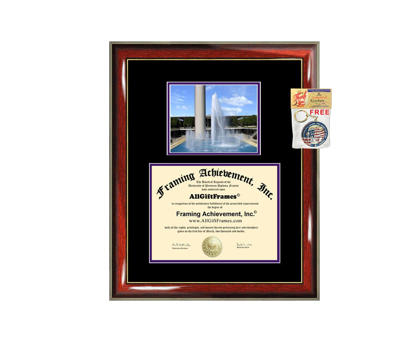 University at Albany SUNY diploma frame campus degree