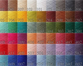 Linen thread 200 gram / 7oz. choose Any  color - Lace weight linen yarn color palette