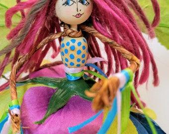 Festival, Renaissance, Fairy, Burning Man, pink, blue, purple, green, summer fairs, hand made, flower dress, OOAK, spirit faerie, fae, Boho