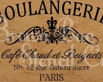 French Stencil - Boulangerie  - 12x20 7.5 mil mylar