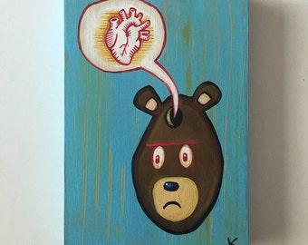 Bear Heart - Original Art by Kevin Kosmicki