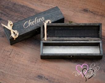 Engraved Jewelry Box - Bridesmaid Gift Box - Jewelry Box - Personalized Engraved Jewelry Box - Laser Engraved - Wood Box - Personalized box