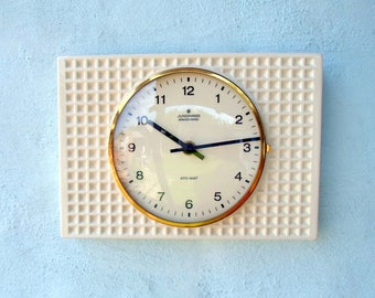 Space age Junghans vintage wall clock /ATO-MAT/white