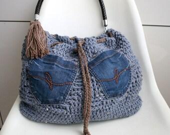 Crochet pattern, crochet bag pattern, crochet color bag pattern, boho crochet bag pattern 236 Instant Download