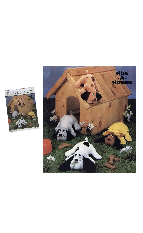 Vintage 80er Jahre gestopft umarmen ein Hund Spielzeug Hund