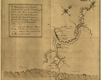 Poster, Many Sizes Available; George Washington'S Map Of Pennsylvania 1754
