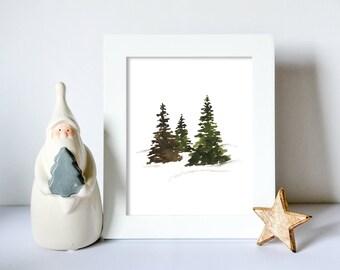 Evergreen Snowscape Fine Art Print