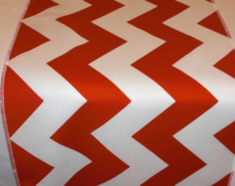 11 x 72 Inch Eco Friendly Red and White Chevron Table Runner