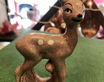 Vintage Ceramic Deer Figurine