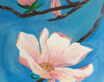 """Canvas acrylic painting-- """"Purity"""""""