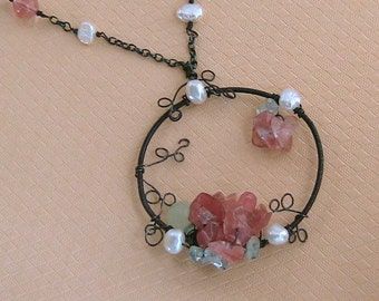 Flower greets the Sun Necklace