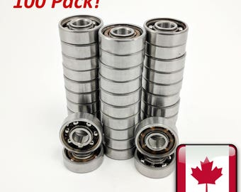 100 Pack High Performance Fidget Spinner Bearings - 608 Bearing Ball Bearing 8x22x7mm DIY