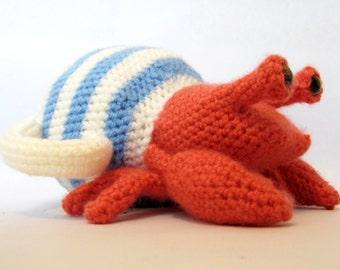 Teapot Crab - Hermit Crab in a Teapot, Amigurumi Crochet Pattern
