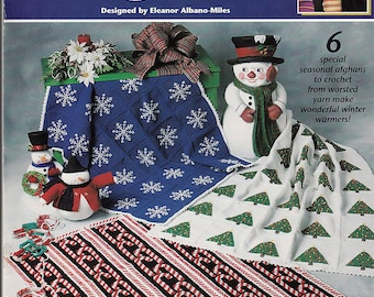 Christmas Afghans to Crochet Pattern Book Annie's Attic 871711