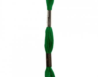 COSMO Embroidery Thread - Kelly Green 2515-4905 - 100% cotton Cosmo Floss 8 meters - Hand Quilting Stitching- Japanese