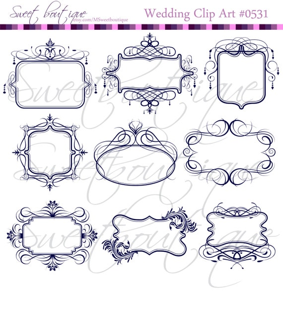 victorian frame design. NAVY BLUE Vintage Victorian Frames Chandelier Ornate Frame Clip Art Silhouette Antique Classic Design DIY Bridal Shower 0531 .