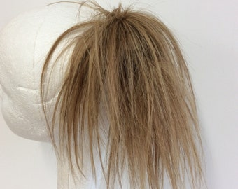 Human hair scrunchie blonde extension (6/27 )8 inches long 34g