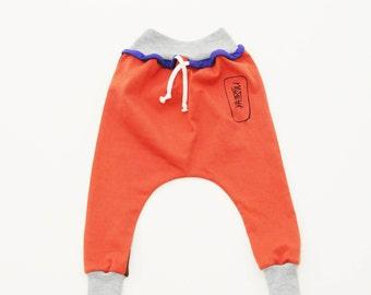 Kids Harem Pants Size Newborn - 5 Unisex dropped crotch sweatpants