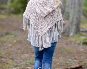 KNITTING PATTERN-The Cambric Shawl (toddler, child, teen and adult sizes)