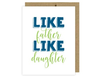 Father's Day Card:  Dad Card Daughter - Etsy