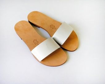 Handmade slides made from in Genuine Leather - More colours available