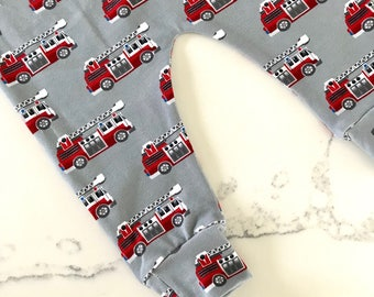 Fire Truck Baby & Toddler Leggings – Made to Order 0 Months - 4 Years