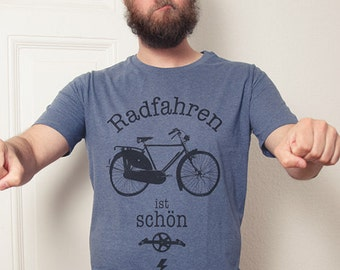 Cycling is men - bio pretty - fair wear T-Shirt - dark Heather blue