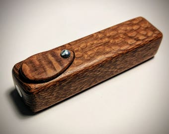 Exotic LACEWOOD Smoking Pipe - Handmade Wooden Tobacco Pipe