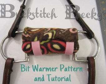 DIY Horse Bit Warmer Sewing Pattern and Tutorial - Washable and Reusable!