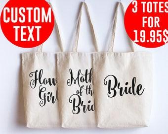 Wedding bags Bridal party wedding tote bag Bridesmaid gift Wedding bag Wedding gifts