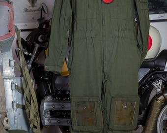 Vintage French Army Air Force overall army de terre with patch 6 GHL - Groupe d ' Helicopteres casual