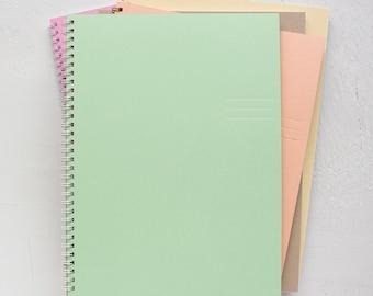 set of 3 large foil pressed spiral notebooks