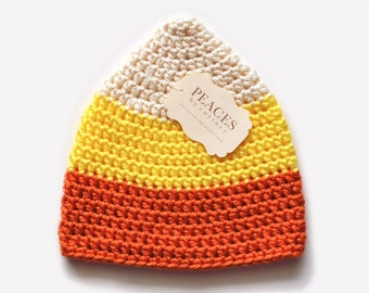 Newborn Candy Corn Hat - Holiday Baby Hat