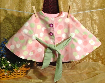 Pink and Green Polka Dot Caplet