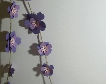 Garlands of flowers, paper flowers, ornaments, garland flowers
