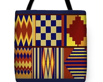 African Durable PolyPoplin Tote Bag - African SilkyPoly Throw Pillow - Laptop Bag - Re-Usable Shopping Bag - Laptop Bag - Airline Travel Bag