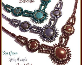 """Only Beads Kit : """"Bohemia"""" Necklace in English D.I.Y."""
