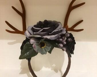 Large dear antler headpiece